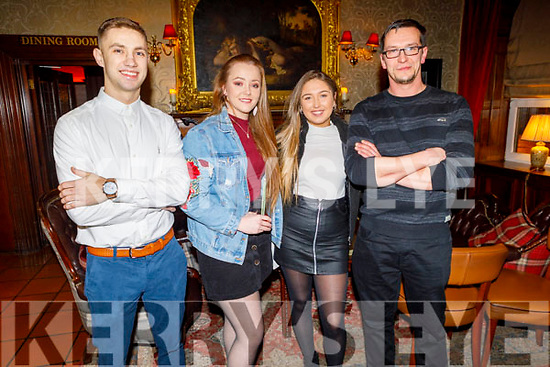 Adam Nocm, Michelle O''Sullivan, Renee Brosnan and Lucs Wacnik enjoying the Manor West and Ashe Hotel party in the Grand Hotel on Sunday