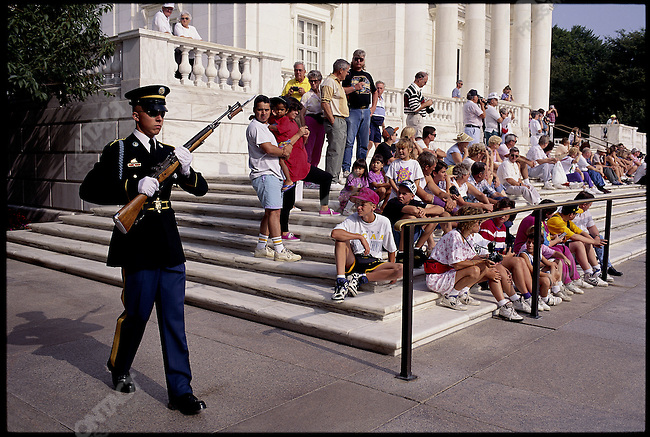 Honor Guard at the Tomb of the Unknown Soldier, Arlington National Cemetery, Fort Meyer, Virginia, USA, August 1993