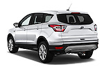 Car pictures of rear three quarter view of 2018 Ford Escape SE 5 Door SUV Angular Rear