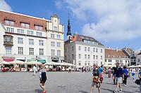 Rathausplatz in Tallinn (Reval), Estland, Europa, Unesco-Weltkulturerbe