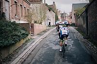Aimé De Gendt (BEL/Wanty-Gobert) following every move<br /> <br /> 51th Le Samyn 2019 <br /> Quaregnon to Dour (BEL): 200km<br /> <br /> ©kramon