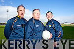 Management Team for the Kerry Minor Team 2013.John O'Keeffe (physical trainer/selector) Mickey Ned O'Sullivan (bainsteoir) Peter Keane (selector)