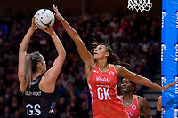 England's Geva Mentor in action during the International Netball - NZ Silver Ferns v England Roses at Te Rauparaha Arena, Porirua, New Zealand on Thursday 7 September 2017.<br /> Photo by Masanori Udagawa. <br /> www.photowellington.photoshelter.com