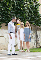 31 July 2017 - Palma, Spain - Queen Letizia, King Felipe, Princess Leonor and Princess Sofia pose for the media during the summer holiday at the Marivent palace in Palma de Mallorca. Photo Credit: PPE/face to face/AdMedia