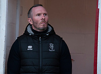 Lincoln City manager Michael Appleton during the pre-match warm-up<br /> <br /> Photographer Andrew Vaughan/CameraSport<br /> <br /> The EFL Sky Bet League One - Accrington Stanley v Lincoln City - Saturday 15th February 2020 - Crown Ground - Accrington<br /> <br /> World Copyright © 2020 CameraSport. All rights reserved. 43 Linden Ave. Countesthorpe. Leicester. England. LE8 5PG - Tel: +44 (0) 116 277 4147 - admin@camerasport.com - www.camerasport.com