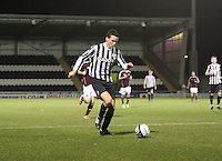 Paul McGinn in the St Mirren v Heart of Midlothian Clydesdale Bank Scottish Premier League U20 match played at St Mirren Park, Paisley on 6.11.12.