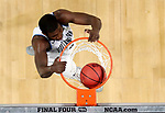 SAN ANTONIO, TX - MARCH 31:  Eric Paschall #4 of the Villanova Wildcats dunks in the second half against the Kansas Jayhawks during the 2018 NCAA Men's Final Four Semifinal at the Alamodome on March 31, 2018 in San Antonio, Texas.  (Photo by Ronald Martinez/Getty Images)