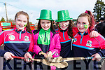 Anne Hickey, Allanah Houlihan, Yasmin O'Brien and Holly Adair killarney Camogie club at the Rathmore St Patricks parade on Sunday