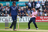 Nathan Sowter of Middlesex celebrates taking the wicket of Adam Wheater during Essex Eagles vs Middlesex, NatWest T20 Blast Cricket at The Cloudfm County Ground on 11th August 2017