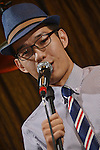 DC Stage, Kaohsiung -- Vocalist Jack Yeh announcing a song during a performance of SMALLS JAZZ COMBO.
