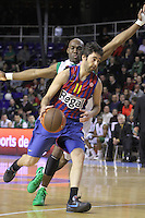20.03.2012 Barcelona, Spain. Euroleague Playoff game 1. Picture show Juan Carlos Navarro in action during match between FC Barcelona Regal against Unics Kazan at Palau Blaugrana