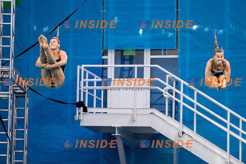 Tania Cagnotto and Francesca Dallape' silver medal<br /> 3m synchro women <br /> Rio de Janeiro XXXI Olympic Games <br /> Olympic Aquatics Stadium <br /> diving  07/08/2016<br /> Photo Giorgio Scala/Deepbluemedia/Insidefoto