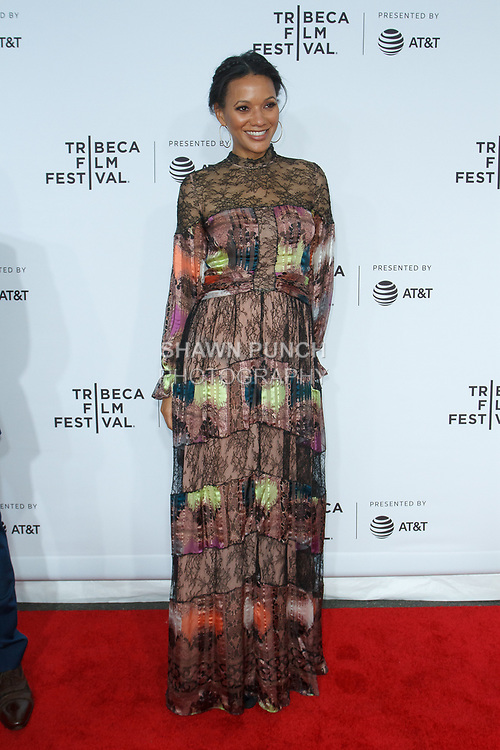 "Rachel Collins arrives at the Clive Davis: ""The Soundtrack Of Our Lives"" world premiere for the Opening Night of the 2017 TriBeCa Film Festival on April 19, 2017 at Radio City Music Hall."