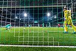 02.11.2019, wohninvest WESERSTADION, Bremen, GER, 1.FBL, Werder Bremen vs SC Freiburg<br /> <br /> DFL REGULATIONS PROHIBIT ANY USE OF PHOTOGRAPHS AS IMAGE SEQUENCES AND/OR QUASI-VIDEO.<br /> <br /> im Bild / picture shows<br /> Tor 2:2, <br /> Marco Friedl (Werder Bremen #32) und Jiri Pavlenka (Werder Bremen #01) nach dem 2:2 Ausgleichstreffer in der Nachspielzeit, <br /> aufgenommen mit remote / Hintertorkamera, <br /> <br /> Foto © nordphoto / Ewert