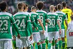 01.12.2018, Weser Stadion, Bremen, GER, 1.FBL, Werder Bremen vs FC Bayern Muenchen, <br /> <br /> DFL REGULATIONS PROHIBIT ANY USE OF PHOTOGRAPHS AS IMAGE SEQUENCES AND/OR QUASI-VIDEO.<br /> <br />  im Bild<br /> <br /> Einlauf der Mannschaften Rueckansiecht  <br /> Theodor Gebre Selassie (Werder Bremen #23)<br /> Johannes Eggestein (Werder Bremen #24)<br /> Yuya Osako (Werder Bremen #08)<br /> Maximilian Eggestein (Werder Bremen #35)<br /> Ludwig Augustinsson (Werder Bremen #05)<br /> Milos Veljkovic (Werder Bremen #13)<br /> Davy Klaassen (Werder Bremen #30)<br /> Niklas Moisander (Werder Bremen #18)<br /> Jiri Pavlenka (Werder Bremen #01)<br /> <br /> Foto &copy; nordphoto / Kokenge