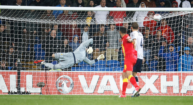 Gareth Bale scores the winner for Wales past Allan McGregor