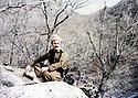 Iraq 1989 <br /> Nechirvan Ahmed, peshmerga, in Gali Sale at the border of Turkey , after Anfal  <br /> Irak 1989 <br /> Nechirvan Ahmed, peshmerga, a la frontiere avec la Turquie apres la campagne de l'Anfal