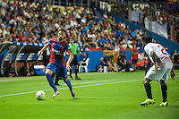 VALENCIA, SPAIN - SEPTEMBER 11: Morales during BBVA LEAGUE match between Levante U.D. And Sevilla C.F. at Ciudad de Valencia Stadium on September 11, 2015 in Valencia, Spain