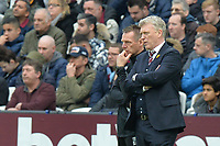 West Ham Manager David Moyes and West Ham assistant Manager Stuart Pearce  during West Ham United vs Burnley, Premier League Football at The London Stadium on 10th March 2018