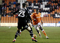 Blackpool's Donervon Daniels looks to take on Barnsley's Daniel Pinillos<br /> <br /> Photographer Rich Linley/CameraSport<br /> <br /> The EFL Sky Bet League One - Blackpool v Barnsley - Saturday 22nd December 2018 - Bloomfield Road - Blackpool<br /> <br /> World Copyright &copy; 2018 CameraSport. All rights reserved. 43 Linden Ave. Countesthorpe. Leicester. England. LE8 5PG - Tel: +44 (0) 116 277 4147 - admin@camerasport.com - www.camerasport.com