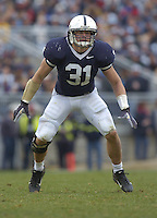 18 November 2006:  Penn State LB Paul Posluszny (31).&amp;#xD;The Penn State Nittany Lions defeated the Michigan State Spartans 17-13 for the Land Grant Trophy November 18, 2006 at Beaver Stadium in State College, PA.&amp;#xD;<br />