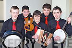 Fossa Music group who played in the Scor na nOg Munster semi finals in Millstreet on Sunday front row l-r: John Murphy, Cian O'Sullivan, Dean O'Sullivan, Christy Buckley and Sean Kelliher