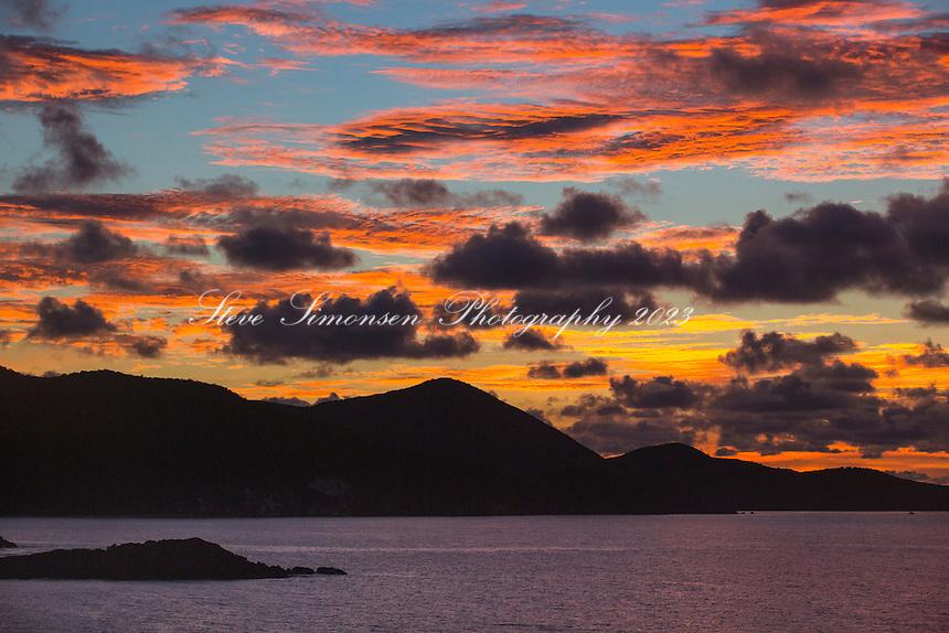 Sunrise from St. John<br /> US Virgin Islands