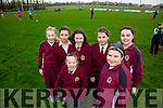 Sinead Carr, Leah Williams, back l-r Kate Kerins, Casey Borst, Mairead McCarthy, Andrea Fitzgerald and Fiona O'Dowd from  Moyderwell primary school  at the The Tralee Rugby Club give it a try event day on Monday All Girls are welcome again this Saturday 6th February  at the club from 10.30 to 12