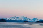 The Fairweather Mountains as seen from a ship, Inside Passage, Alaska, USA