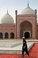Man at Badshani Mosque in Lahore, Pakistan