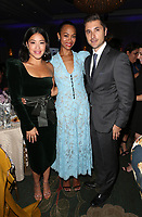 LOS ANGELES, CA - NOVEMBER 8: Gina Rodriguez, Zoe Saldana, at the Eva Longoria Foundation Dinner Gala honoring Zoe Saldana and Gina Rodriguez at The Four Seasons Beverly Hills in Los Angeles, California on November 8, 2018. Credit: Faye Sadou/MediaPunch