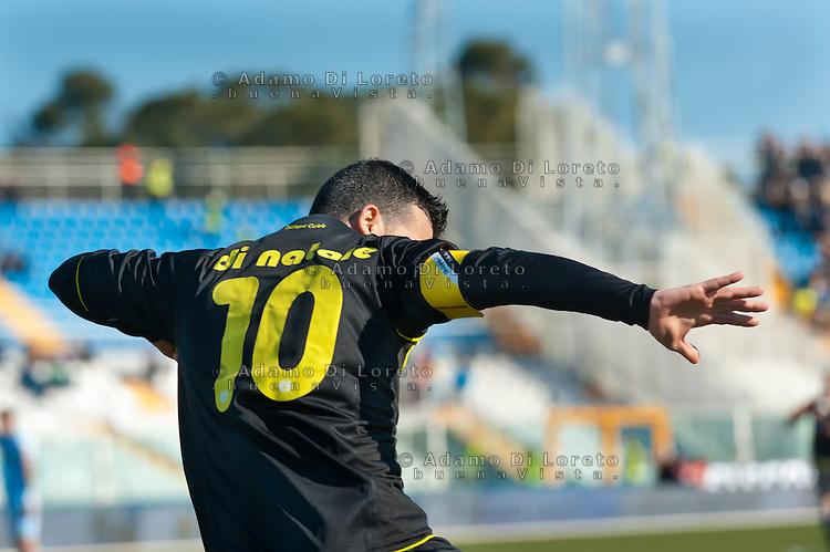 Pescara  03/03/2013: Antonio Di Natale calciatore dell'Udinese esulta dopo un goal realizzato contro il Pescara.