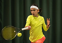 Netherlands, The Hague,  March 10, 2017, Tennis,  National Indoor Junior Championships, NOJK, 12-16 years, Sophie Stoyanov (NED)<br /> Photo: Tennisimages/Henk Koster