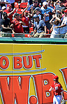 17 June 2012: Washington Nationals outfielder Bryce Harper watches a home run ball fall into the crowd during game action against the New York Yankees at Nationals Park in Washington, DC. The Yankees defeated the Nationals 4-1 to sweep their 3-game series. Mandatory Credit: Ed Wolfstein Photo