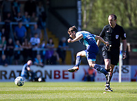 Dominic Gape of Wycombe Wanderers during the Sky Bet League 2 match between Wycombe Wanderers and Cheltenham Town at Adams Park, High Wycombe, England on the 8th April 2017. Photo by Liam McAvoy.