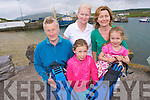 Celebrations will be rife in Portmagee next weekend as the villages hosts 'Portmagee Dive and Jive Geofest  weekend to promote Kerry Geopark and give an understanding to visitors and local residents the natural beauty and amenities that the county has to offer. .Back L-R Elizabeth Lynch, Eileen Whelan and Deirdre Moran.Front L-R Ri?ona and Niamh Moran