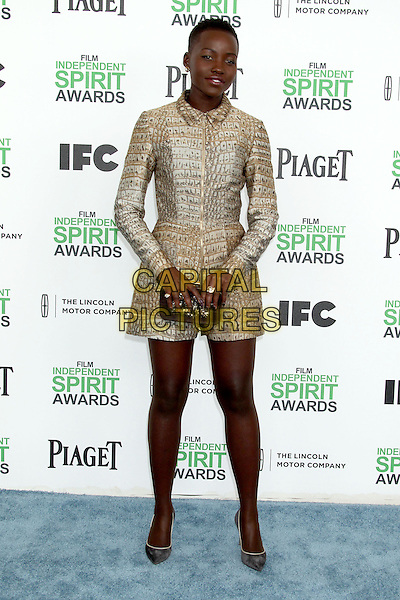1 March 2014 - Santa Monica, California - Lupita Nyong&rsquo;o. 2014 Film Independent Spirit Awards held at Santa Monica Beach. <br /> CAP/ADM/RE<br /> &copy;Russ Elliot/AdMedia/Capital Pictures