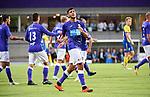 2018-08-10 / Voetbal / Seizoen 2018-2019 / KFCO Beerschot-Wilrijk - KVC Westerlo / Vreugde bij Tarik Tissoudali na de 1-0 van Dante Vanzeir<br /> <br /> ,Foto: Mpics