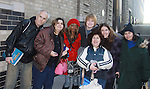 Austin Williams and fans on the last day of shooting of The Soap Opera One Life To Live at the One Life To Live Studio on November 18, 2011, New York City, New York. (Photo by Sue Coflin/Max Photos)