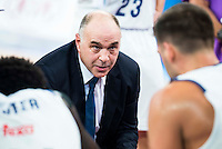 Real Madrid's coach Pablo Laso during the match of the semifinals of Supercopa of La Liga Endesa Madrid. September 23, Spain. 2016. (ALTERPHOTOS/BorjaB.Hojas)