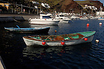 Fishing boats and pleasure cruisers, Puerto de la Estaca harbour, El Hierro, Canary Islands, Spain