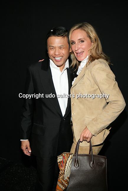 Zang Toi and Songja Morgan Backstage at Zang Toi Spring 2014 Fashion Show Held During Mercedes Benz Fashion Week NY
