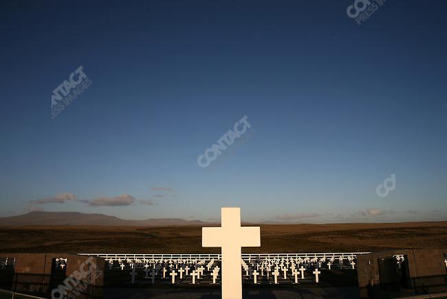 Cemetery for Argentine soldiers, Falklands War, East Falkland. November 2006