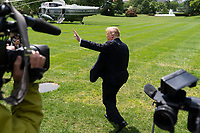 United States President Donald J. Trump departs the White House in Washington, DC, May 14, 2019, headed for political and fundraising events in Louisiana. Credit: Chris Kleponis / CNP/AdMedia