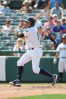 Trenton Thunder outfielder Mason Williams (9) during game against the Binghamton Mets at ARM & HAMMER Park on July 27, 2014 in Trenton, NJ.  Trenton defeated Binghamton 7-3.  (Tomasso DeRosa/Four Seam Images)
