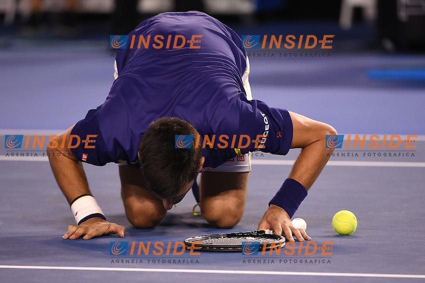Novak Djokovic (SRB)<br /> <br /> Melbourne 31/1/2016<br /> Tennis Australian Open <br /> Finale Uomini <br /> Foto Virginie Bouyer / Panoramic / Insidefoto<br /> ITALY ONLY