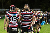 Matiaha Martin. Mitre 10 Cup rugby game between Counties Manukau Steelers and Auckland played at ECOLight Stadium, Pukekohe on Saturday August 19th 2017. Counties Manukau Stelers won the game 16 - 14 and retain the Dan Bryant Memorial trophy.<br /> Photo by Richard Spranger.