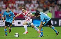 GDANSK, POLONIA, 18 JUNHO 2012 - EURO 2012 - ESPANHA X CROACIA - Luka Modric jogador da Croacia durante lance partida contra a Espanha pela terceira rodada do Grupo C da Euro 2012 em Gdansk na Polonia , nesta segunda-feira , 18. (FOTO: PIXATHLON / BRAZIL PHOTO PRESS).