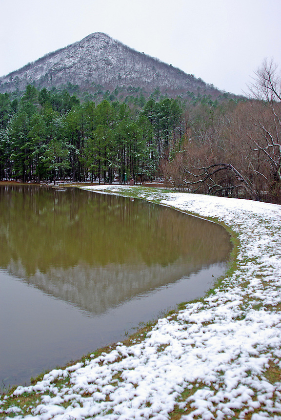 Snow on Pinnacle Mountain, Pinnacle Mountain State Park, Pulaski County, Arkansas