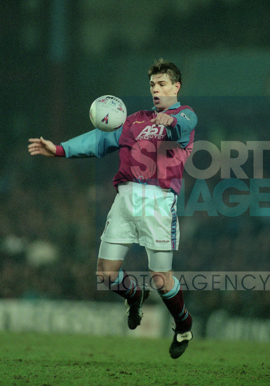 Savo Milosevic of Aston Villa - Barclays Premier League - Aston Villa v Liverpool - Villa Park Stadium - Birmingham - England - 31st  January 1996 - Picture Simon Bellis/Sportimage